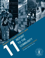 report to the community - Students' Union - University of Calgary