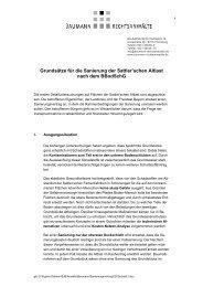 Grundsätze für die Sanierung der Sattler'schen Altlast