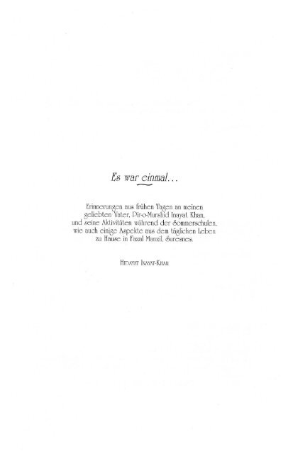 Es war einmal ... von Hidayat Inayat-Khan (Leseprobe)