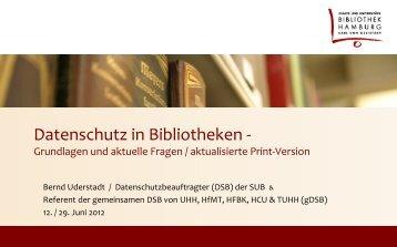Personenbezogene Daten - Staats- und Universitätsbibliothek ...