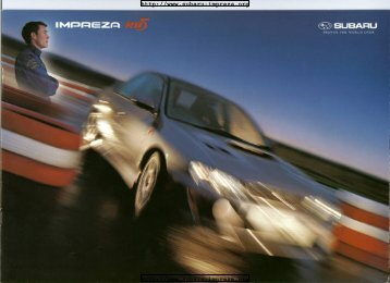 RB5 Brouchure - Subaru Impreza