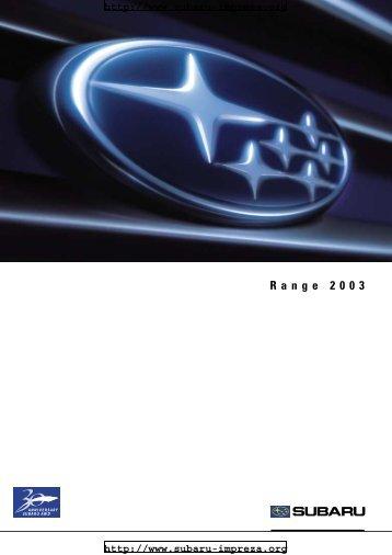 Range 2003 - Subaru Impreza