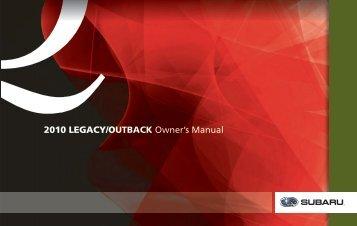 legacy 2010 subaru canada rh yumpu com subaru legacy 2010 user manual subaru legacy 2010 owner manual pdf