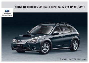 MOdèlEs spéciAUx iMpREZA xV 4x4 TRENd/sTylE - Subaru