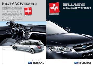 Série spéciale: Legacy 2.0R AWD Swiss Celebration - Subaru