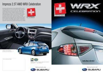 Série spéciale: Impreza 2.5T AWD WRX Celebration - Subaru