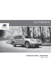 Outback: Technische Daten, Ausstattung - Subaru