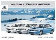 iMprezA 4x4 ALs sonderserie swiss speciAL. - Subaru