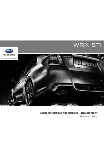 Subaru WRX STI MY'13 (PDF, 307 kb