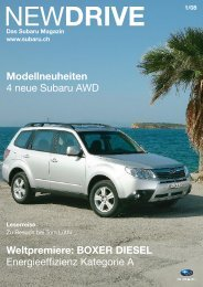 NEW DRIVE 1/08 Das Subaru Magazin Www