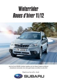 Winterräder Roues d'hiver 11/12 - Subaru