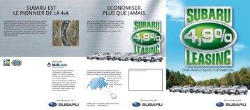 LE LEASING 4x4 - Subaru