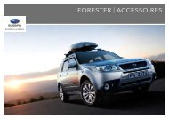 FORESTER | ACCESSOIRES - Subaru