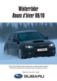 Winterräder Roues d'hiver 09/10 - Subaru