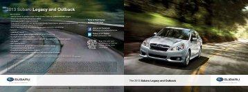 2013 Subaru Legacy and Outback - Subaru of America