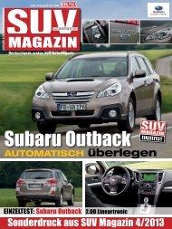 Fahrbericht Outback 2.0D Lineartronic – SUV MAGAZIN Nr ... - Subaru