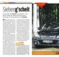 Fahrbericht Outback 2.0D Lineartronic - Subaru