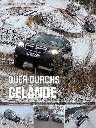 Lesertest zum Forester - AutoZeitung Nr. 8/2013 - Subaru