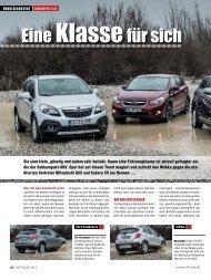 Vergleichstest Ausgabe Nr. 08/2013 - Subaru