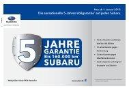 Flyer 5-Jahres-Garantie - Subaru