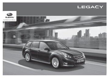 Caractéristiques et Equipements Legacy - Subaru
