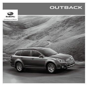 Caractéristiques et Equipements Outback - Subaru