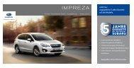 Subaru Impreza - Technische Daten / Ausstattung / Preise