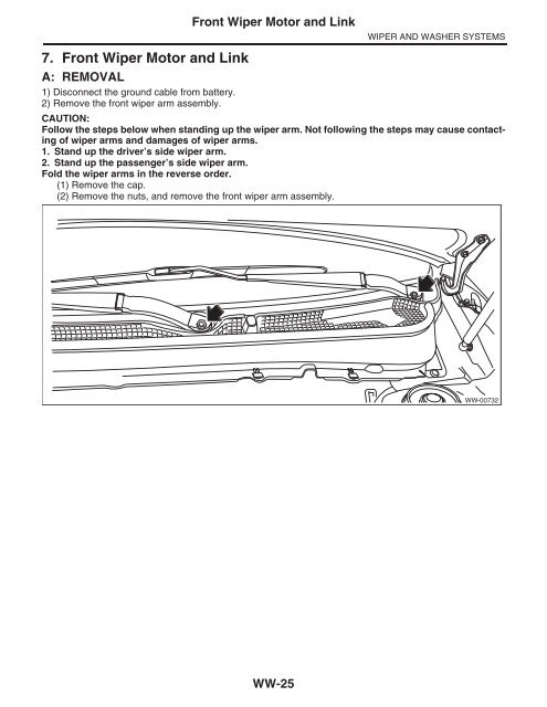 7  Front Wiper Motor and Link - Subaru Outback Forums