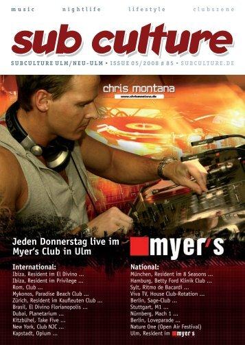 05/2008 - Sub Culture Ulm