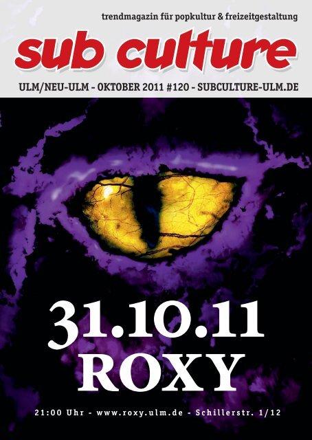 Bilder Halloween Roxy Ulm.10 2011 Sub Culture Ulm