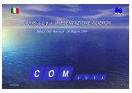 C.O.M. s.c.p.a. PRESENTAZIONE AZIENDA - SUBFORITALIA
