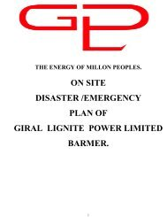 Giral Lignite Power Limited - Barmer