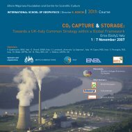 co2 capture & storage - Ingv