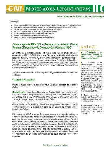 CNI: Novidades Legislativas 44 - ABCE