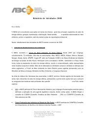 Relatório de Atividades 2008 - ABCE