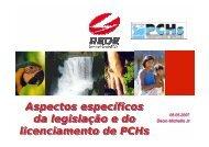 Aspectos específicos da legislação e do licenciamento de ... - ABCE