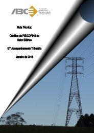 Nota Técnica sobre Créditos de Pis/Cofins no Setor Elétrico - ABCE