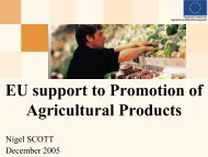 EU support to Promotion of Agricultural Products