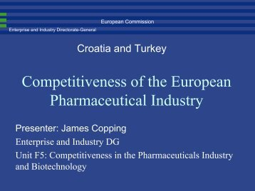 Competitiveness of the European Pharmaceutical Industry