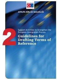 Guidelines for Drafting Terms of Reference - Avrupa Birliği Bakanlığı