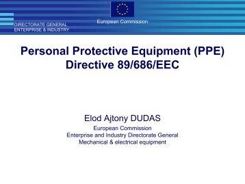 Personal Protective Equipment (PPE) Directive 89/686/EEC