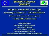 SEVESO II Directive (96/82/EC)