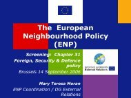 The European Neighbourhood Policy (ENP)