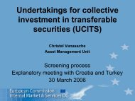 Undertakings for collective investment in transferable securities ...