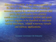 Directive 97/68/EC on the approximation of the laws of the Member ...