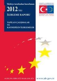 Türkiye tarafından Hazırlanan 2012 İlerleme Raporu - Avrupa Birliği ...