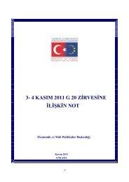 3- 4 kasım 2011 g 20 zirvesine ilişkin not - Avrupa Birliği Bakanlığı