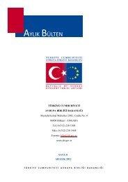 Aylık Bülten Aralık 2012 - Avrupa Birliği Bakanlığı