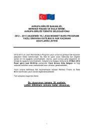 Yazili Sinav Duyurusu Jmtr2012 2013 (PDF) - Jean Monnet