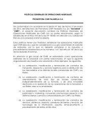POLÍTICAS GENERALES DE OPERACIONES ... - CMR Falabella